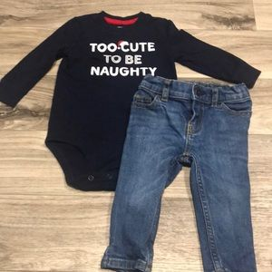 Baby boy OshKosh outfit size 6-12 Month old
